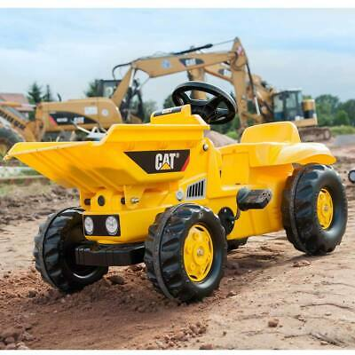 CAT Dumper Truck Chain Driven Pedal Powered Rugged Styled Ride On For 2+ Years