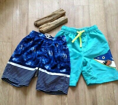 M&S & NEXT BOYS 6-7Y TWO PAIRS Swimshorts Holiday beach holiday camp caravan
