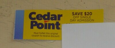 Cedar Point Amusement Park Save $20 Off  Single Day Admission