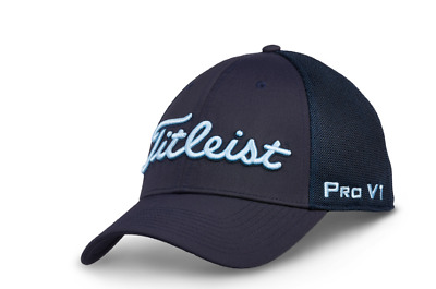 Titleist Tour Sports Mesh  FJ/Pro V1 Structured Hat / Cap/Headwear Fitted-Navy