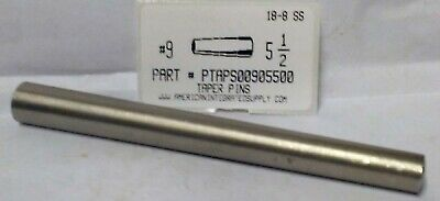 "#9X5-1/2 Taper Pin Stainless Steel  .591"" Large End Diameter (1)"