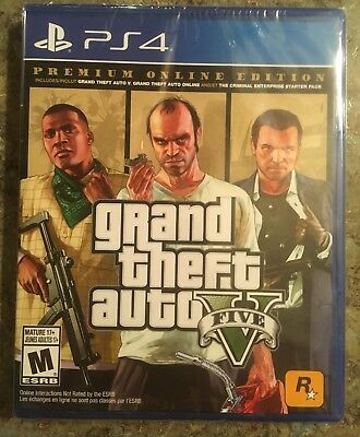Grand Theft Auto V Premium Online Edition GTA V GTA 5 Online PS4 Free Shipping