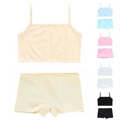 2pcs/set Kids Girls Strappy Sleeveless Tank Cami Blouse Tops+shorts Home Pajamas