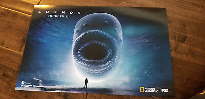 2018 Sdcc Comic Con Exclusive Fox National Geographic Poster Cosmos Worlds