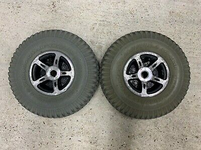 Roma Medical Lyon S146 Rear Wheels & Tyres 3.00-4 10x3 Mobility Scooter Spare Pa