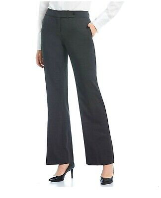 Calvin Klein Women's Classic Fit Career Dress Pants Size 4 Charcoal Poly Rayon