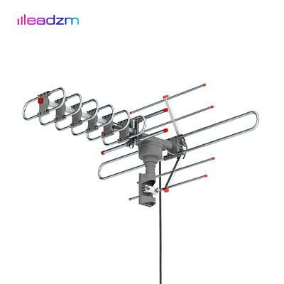 980 Mile Outdoor TV Antenna Motorized Amplified V/UHF HDTV 1080P 4K 360° Rotate