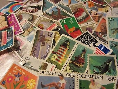 Older  MINT US Postage Stamp Lot, all different MNH 25 CENT COMMEMORATIVE UNUSED