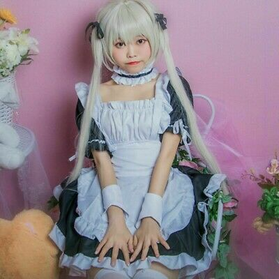 M-3139 S//M//L//XL//XXL ROSA PINK Cameriera Maid Abito Dress Cosplay costume
