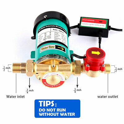 """230V 90W Automatic Hot Water Pressure Booster Pumps ¾"""" Outlet Max 10m 20L/Min UK"""
