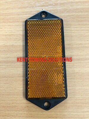 X1 New Radex Amber Orange Rectangular Trailer Caravan Car Reflector 127mm X50mm