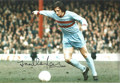 Frank Lampard senior West Ham signed 12x8 authentic football photograph SS676B