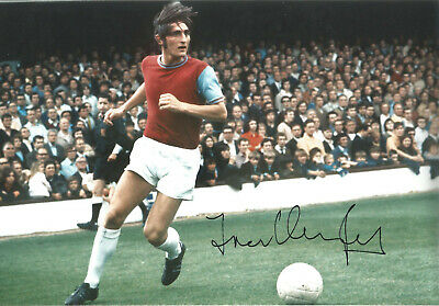 Frank Lampard senior West Ham signed 12x8 authentic football photograph SS676C