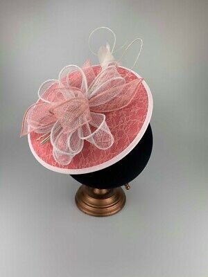 Ladies Fascinator Race Day Hatinator Pink Fascinators Wedding Guest Headpiece