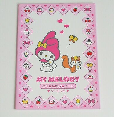 Vintage Sanrio 2000 My Melody Bunny Rabbit Large Notebook Stickers New Japan
