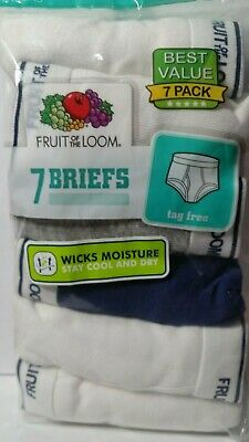 Fruit of the Loom Boy's Briefs Pack of 7 Your Choice Size/Quantity Tag Free