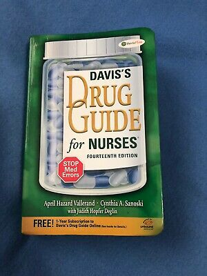 Davis's Drug Guide for Nurses 14th Edition by April Vallerand