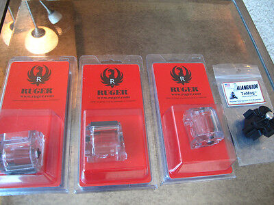 3 Pack Ruger CLEAR Magazine .22lr Mags Alangator Trimag 10/22 10 22 Mags 10 rd