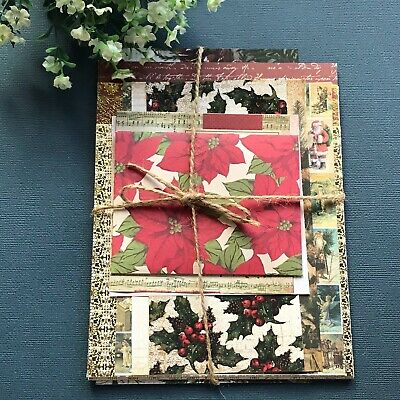 DIY Christmas Vintage Style Craft Paper Pack /Junk Journal/Card Making/Scrapbook