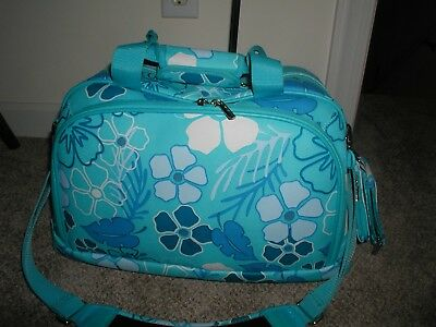 MURANO Flora  TRAVEL Turquiose Floral WEEKEND CARRY ON SHOULDER BAG