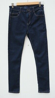 Immaculate NEXT Boy's Dark Blue Stretch Skinny Jeans age 13 years - WORN ONCE!