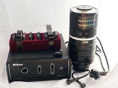 Nikon Medical Nikkor-C 200 mm f/5.6, six accessory lenses, power supply, case