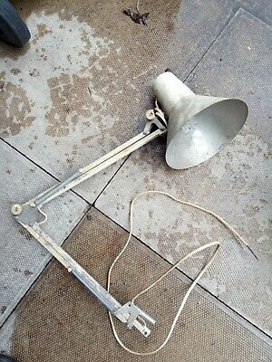 Vintage Anglepoise lamp arm with lamp holder and shade for spares or repair