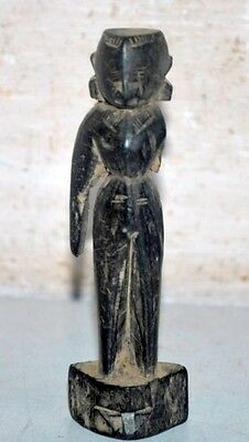Indian Old Antique Wooden Hand Carved Lady Figure Putali Rare Decorative Statue