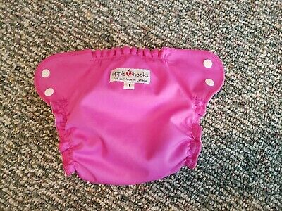 Apple Cheeks Size 1 Diaper Shell Cover Hot Pink EUC