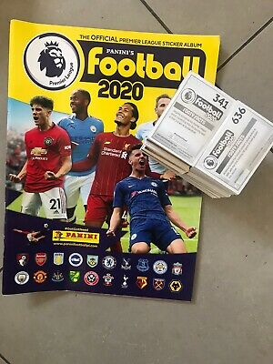 New Panini Premier League Football 2020 all 636 Stickers.Complete Collection