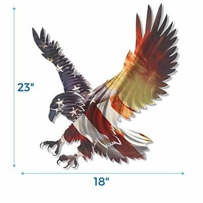 Next Innovations 3D Metal Wall Art - Bald Eagle American Flag Wall Decor