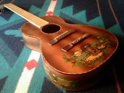 HAWAIIAN SUPERTONE PARLOR GUITAR PEARLOID / DECALS Restore or Hang ?