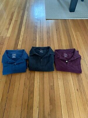 Mens Gap Polo Lot Of 3 Shirts Size Small