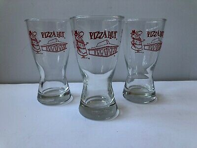 Vintage 60's-70's  Pizza Hut Pilsner Beer Glass ~Pizza Pete  **Free Shipping**