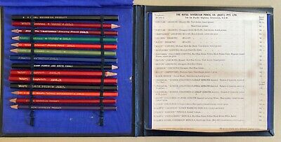 Vintage Royal Sovereign Pencils Australia Travelling Salesman's Sample Kit