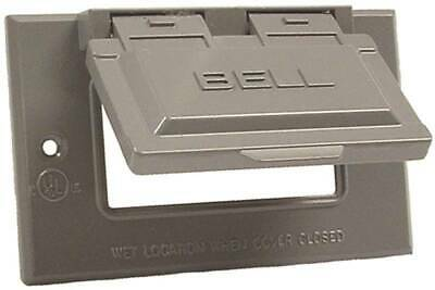 HUBBELL 5101-5 Cover 2-13/16 in L 4-9/16 in W Metal For GFCI Receptacles