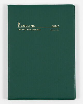 Collins 2020-2021 Financial Year Diary A6 Week to View Green 36M7