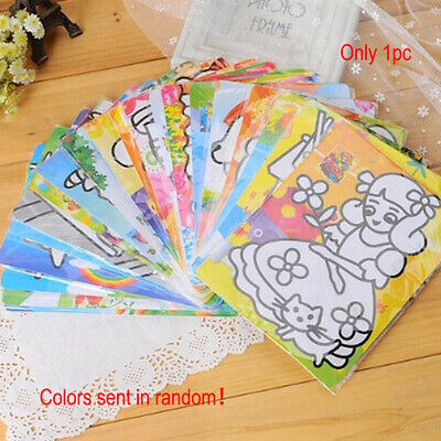 Kids Color Sand Painting Art Creative Drawing Paper Art Crafts DIY Toy Kit