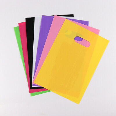 Various Size PE Plastic Shopping Bags with Handle Clothes Packaging Pouches