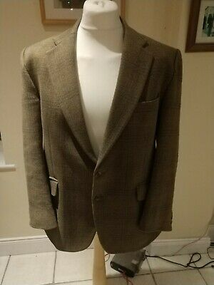 VTG SUPASAX BLADEN BALMORAL  (43 S) TWEED WOOL CHECK S/BREAST 2/BUTTON Jacket