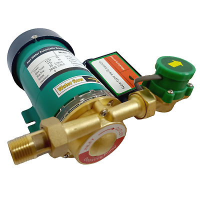 """230V 120W Automatic Hot Water Pressure Booster Pump 1"""" Outlet Max 15m 25L/Min UK"""