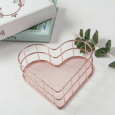 Heart-shaped Wrought Iron Storage Simple Basket  Iron Room Decor Toys Shelf