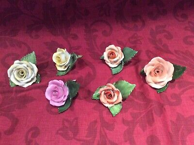 Herend Collection Rose Menu Holders. Various Ages. Read Description