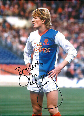 Colin Hendry Blackburn Rovers Signed 16x12 authentic football photograph SS722D