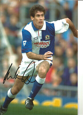 Mike Newell Blackburn Rovers Signed 12 x 8 authentic football photograph SS723A