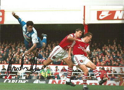 Mike Newell Blackburn Rovers Signed 12 x 8 authentic football photograph SS723B