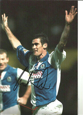 Mike Newell Blackburn Rovers Signed 12 x 8 authentic football photograph SS723C