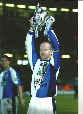 Henning Berg Blackburn Rovers Signed 12 x 8 authentic football photograph SS723D