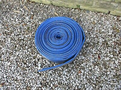 """30M PVC LAYFLAT DELIVERY WATER HOSE 4in 100mm PUMP DISCHARGE PIPE LAY FLAT 4"""""""
