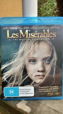 Les Miserables (2012)  - BLU-RAY - NEW/UNSEALED  REGION B FREE POSTAGE